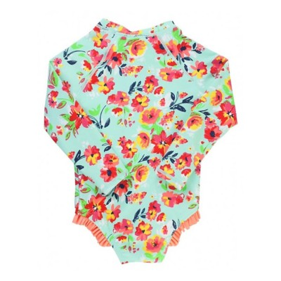 f45b8f96edce8 Tap to Zoom; Toddler Girls' RuffleButts Painted Flowers One Piece Rash Guard