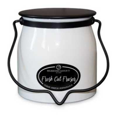 Milkhouse 16oz Fresh Cut Fraser Butter Jar Candle