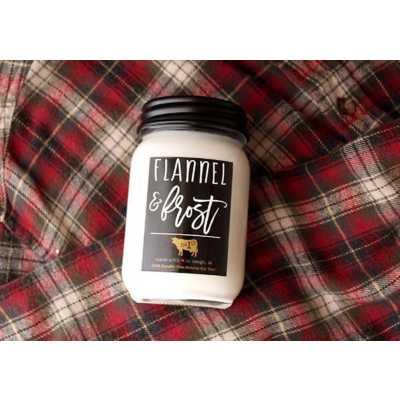 Milkhouse 13oz Flannel & Frost Mason Jar Candle