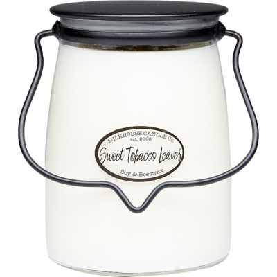 Milkhouse 22oz Sweet Tobacco Leaves Butter Jar Candle
