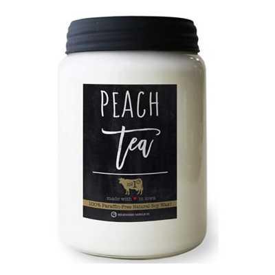 Milkhouse 26oz Peach Tea Farmhouse Jar Candle