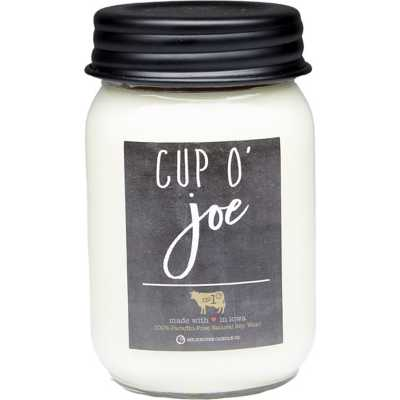 Milkhouse 13oz Cup O'Joe Mason Jar Candle
