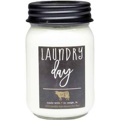 Milkhouse 13oz Laundry Day Mason Jar Candle