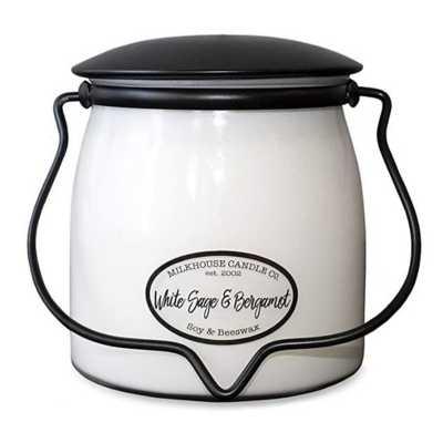Milkhouse 16oz White Sage & Bergamot Butter Jar Candle