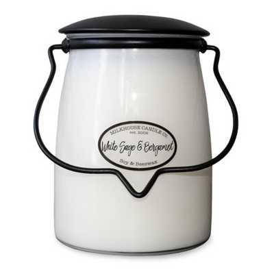 Milkhouse 22oz White Sage & Bergamot Butter Jar Candle