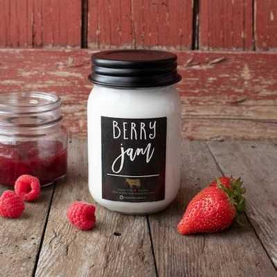 Milkhouse 13oz Berry Jam Mason Jar Candle