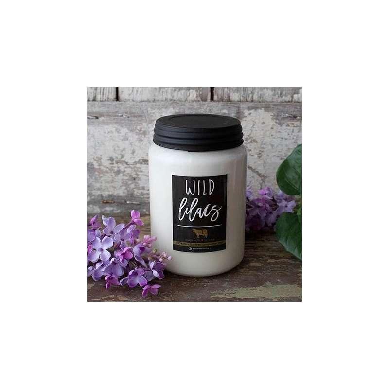Milkhouse 26oz Wild Lilacs Farmhouse Jar Candle