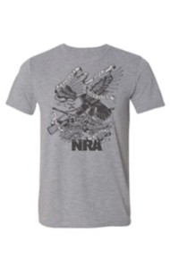 Men's NRA American Traditional Eagle Tattoo Tee