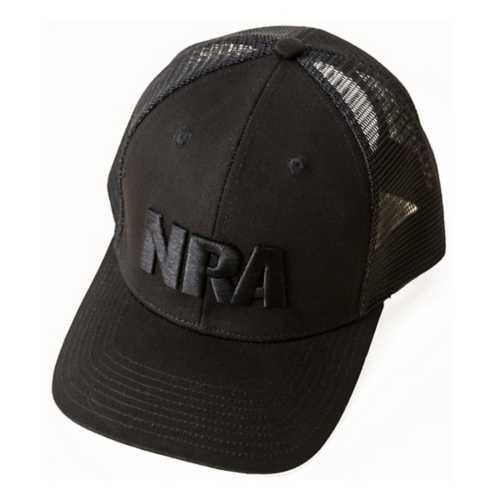 NRA Black on Black Trucker Cap