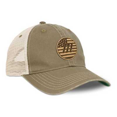 Marucci USA Leather Patch Trucker Hat