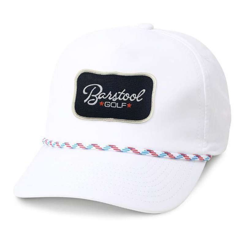 Barstool Sports Golf Patch Imperial Rope Snapback Hat