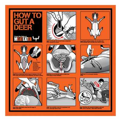 MeatEater How To Gut A Deer Bandana