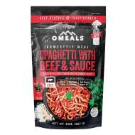 Omeals Spaghetti with Beef & Sauce