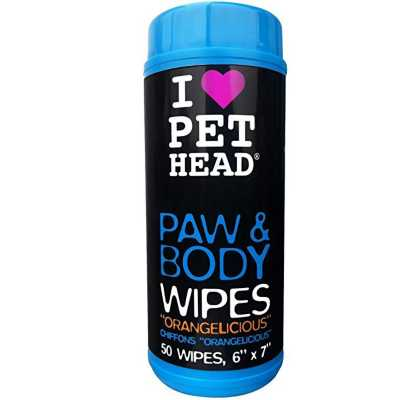 Pet Head Paw and Body Wipes 50 Ct