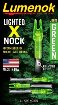 Lumenok Lighted X Arrow Nock