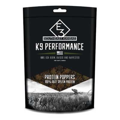 E3 K9 Naturals Performance Protein Poppers Dog Treat