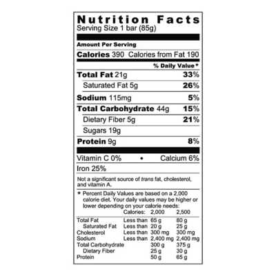 Probar Meal Replacement Bar Oatmeal Chocolate Chip