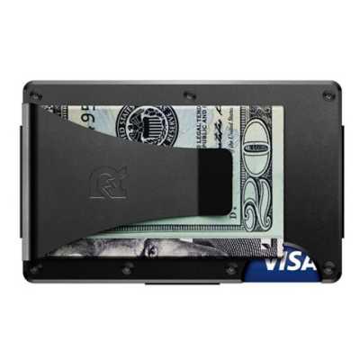 Men's Ridge Wallet Black  Aluminum Money Clip