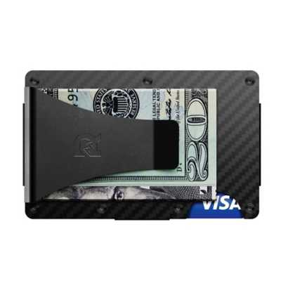 Men's Ridge Carbon Fiber Money Clip Wallet