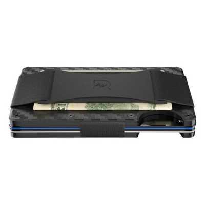 Men's Ridge Cash Strap Carbon Fiber Wallet