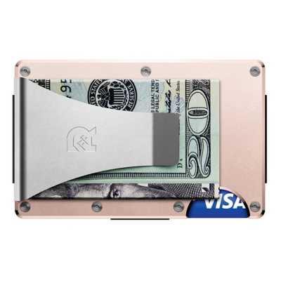 Ridge Wallet Rose Gold Aluminum Money Clip