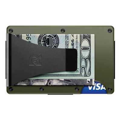 Men's Ridge Wallet Green Aluminum Money Clip