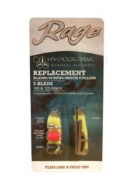 Rage Hypodermic Standard and Crossbow 2-Blade Replacement Blades