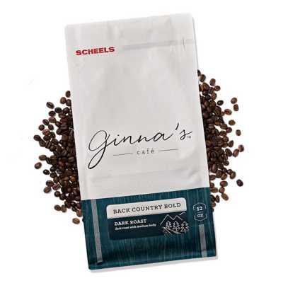 Ginna's Cafe Back Country Bold Dark Roast Whole Bean Coffee