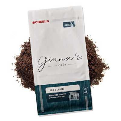Ginna's Cafe 1902 Medium Roast Ground Coffee