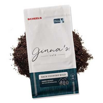 Ginna's Cafe Back Country Bold Dark Roast Ground Coffee