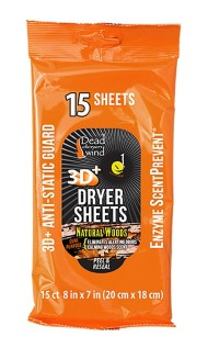 Dryer Sheets Natural Woods
