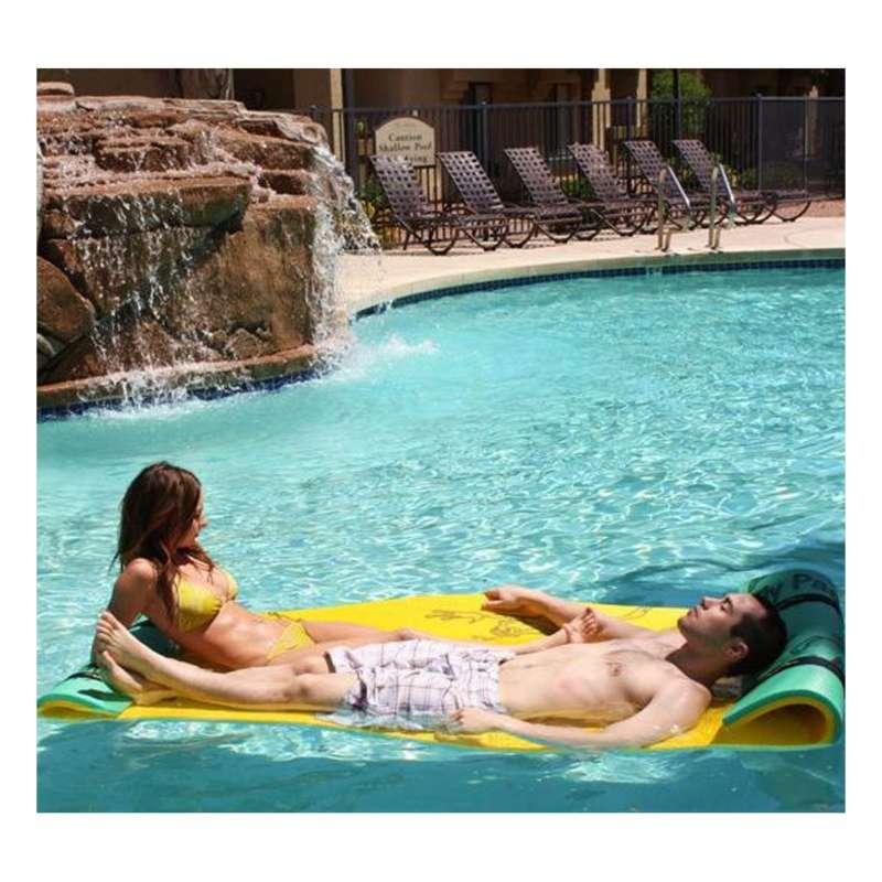 Aqua Lily Pad Tadpole Double Pool Pad 3' X 9'