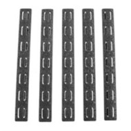 "5.5"" Keymod Rail Panel Kit, Black, 5 Pack"