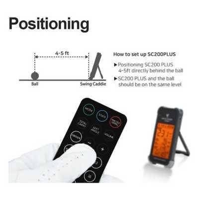 Swing Caddie SC200 Plus Portable Golf Launch Monitor