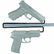 Gun Storage Solutions Over-Under Handgun Hangers
