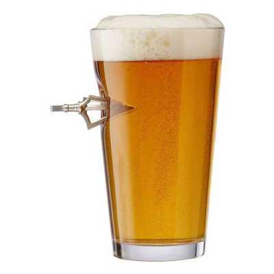 BenShot Broadhead 16oz Pint Glass