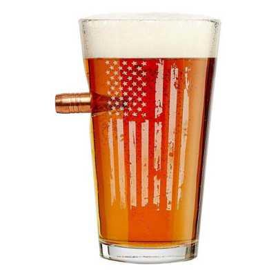 BenShot Patriotic Flag 16oz Pint Glass