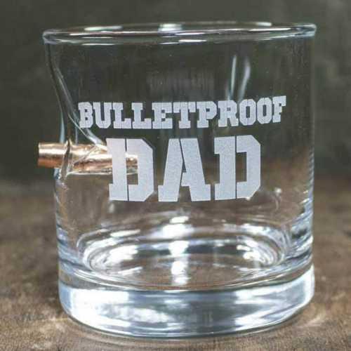 BenShot Bulletproof Dad 11oz Rocks Glass