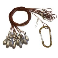 Lifetime Decoys Coated Cable Texas Rigs with Carabiner