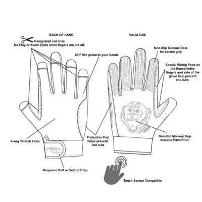 Men's Fish Monkey FM 22 Free Style Custom Fit Gloves