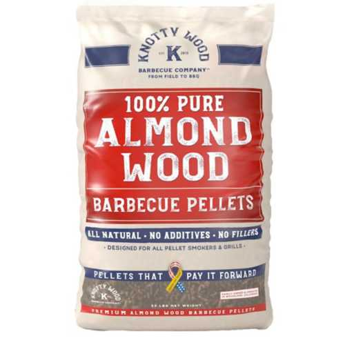 Knotty Wood Pure Almond Wood Barbeque Pellets