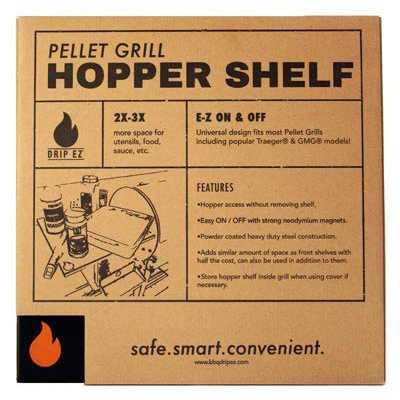 Drip EZ Magnetic Pellet Grill Hopper Shelf