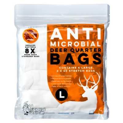 Koola Buck Large Antimicrobial Deer Quarter Bags - 4 Pack