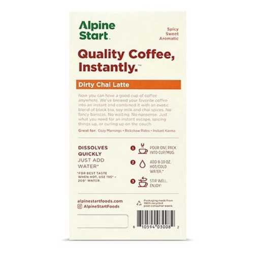 Alpine Start Dirty Chai Latte