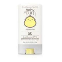 Sun Bum Baby Bum SPF 50 Mineral Face Stick Fragrance Free - 0.45 oz