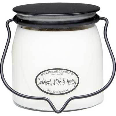 Milkhouse 16oz Oatmeal, Milk, & Honey Butter Jar Candle