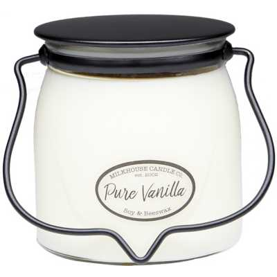 Milkhouse 16oz Pure Vanilla Butter Jar Candle