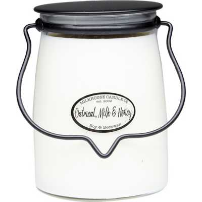 Milkhouse 22oz Oatmeal, Milk & Honey Butter Jar Candle
