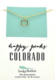 Women's Lucky Feather Colorado State Necklace