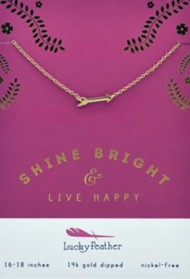 Women's Lucky Feather Shine Bright Necklace